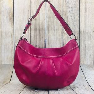 Coach soho pink leather handbag purse shoulder bag
